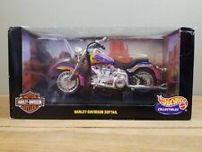 Hot Wheels Harley-Davidson Softail 1:10 Purple Flames hdr2