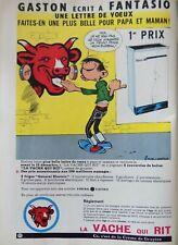 Publicité presse/Advertising ; La Vache qui rit - Gaston Lagaffe