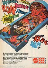 Pubblicità Advertising 1980 MATTEL Spinball Pinball