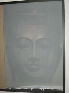 "Roni Stretch, British Artist, (2010) ""Shan Buddha"" Original Oil on Canvas"