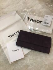 NWT Theory Suede Wallet in Dark Currant Purple Color $225 Net-A-Porter Neimans