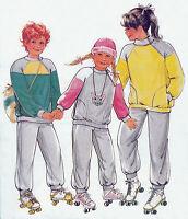 Childrens Boys Girls SWEATSHIRT | SWEATPANTS | Sizes 4-13jr UNCUT Sewing Pattern