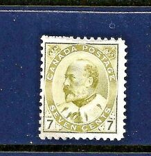 1903+ Canada Scott #92 Unused ~ Sc CV = $220.00 ~ 7c King Edward VII Issue