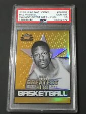 2018 Leaf GREATEST HITS GOLD PRIZM Bill Russell #D 6/10 PSA 10 GEM 10 MADE!