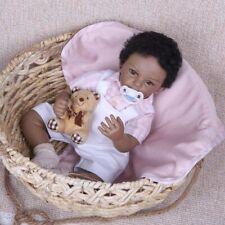 Reborn Baby Doll Silicone Vinyl Toddler Dolls Newborn Babies Black Boy Toy Gifts
