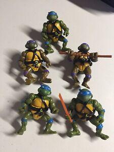 1988 TMNT Teenage Mutant Ninja Hero Turtles Soft Head Lot of 5 x Don & Leo