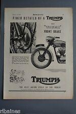 R& L Ex-Mag Advert: Triumph The Tiger Front Brake/ Esso Silverstone Moto Guzzi
