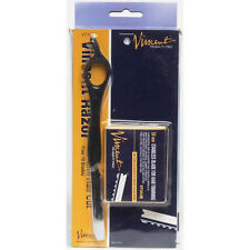 VINCENT HAIR SHAPER/TIRIMMING RAZOR+10 blades FEATHER STYLE