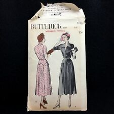Minikin Display Pattern Doll Butterick 5153 1940s Minnekin Pattern Yoked Skirt