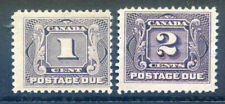 Canada 1906 Postage Dues 1c & 2c mint light hinge (2019/11/02#04)