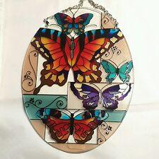 "Joan Baker Designs butterfly collage 5.25x7"" sun catcher  NIB"