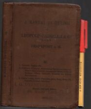 1914 A MANUAL For DYEING Leopold Cassella Wool Silk Leather FABRICS & RECIPES