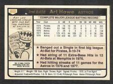 1980 Topps Card Original Production Artwork #554 ART HOWE ASTROS w 1981 Front