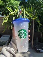 Starbucks Confetti Color Changing Cup  Rainbow Straw Pride Summer 2020 Reusable