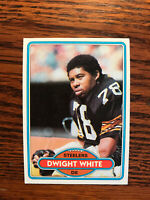 1980 Topps #495 Dwight White Football Card Pittsburgh Steelers NFL Raw