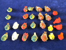 """Millinery 1"""" Bird Trim Collection Mushroom 26 pc Lot Many Colors H2991"""