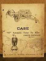"Vintage CASE ""NT"" Automatic Twine Tie Baler Parts Catalog No 521"