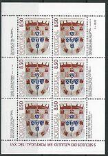 Portugal - Azulejos (III) Kleinbogen postfrisch 1981 Mi. 1539