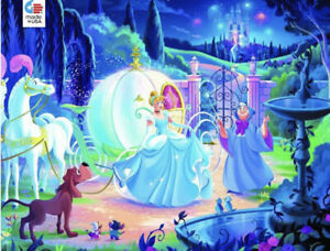 Ceaco Disney Princess: Cinderella's Carriage Jigsaw Puzzle & Poster - 200pc NEW