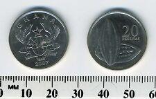 Ghana 2007 - 20 Pesewas Nickel Plated Steel Coin - Split open cocoa pod