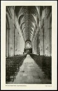 #546 Old TUCK'S Postcard - WINCHESTER CATHEDRAL THE NAVE