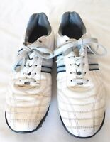 Ferrato Mens Size 10 Leather White Driving Moccasins Shoes Sneakers