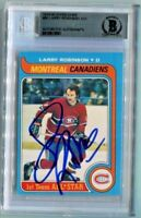MONTREAL LARRY ROBINSON signed autographed 1979-80 OPC O-PEE-CHEE CARD BECKETT
