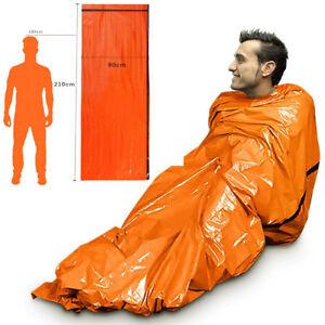 Reusable Emergency Sleeping Bag Thermal Survival Camping Travel Bag Waterproof &