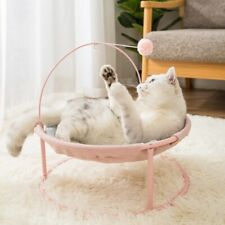Pet Cat Hammock Bed Soft Mat Plush Ball Indoor Comfortable Warm Cute Remoable