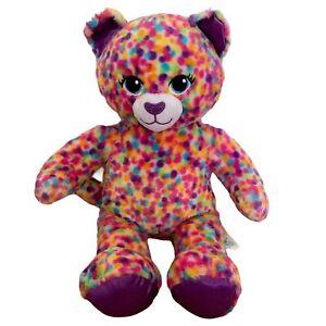 Build A Bear Workshop Cat Leopard Soft Toy Plush Confetti Sprinkles Heartbeat