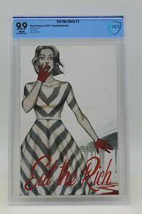 Eat The Rich (2021) #1 Frison 1 In 25 Blood Red CBCS 9.9 Blue Label White Pages