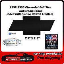 1992-1993 Chevrolet Suburban Black Powder Coat Bowtie Grille Emblem AMI 96001K