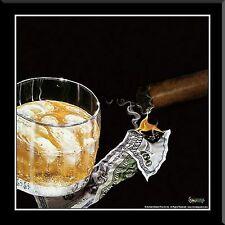"""Michael Godard,"""" Money To Burn"""", Framed Art, 16x16"""