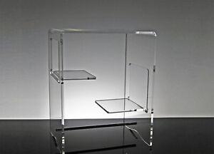 Comodino moderno camera da letto comodino plexiglass  40x30x45 trasparente