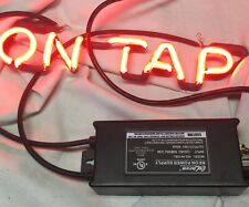 Neon Sign NEW Transformer High Output 10kV Chain Pull & In-line On/Off Instruc.