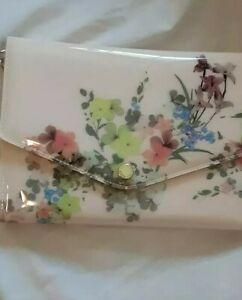 TED BAKER London Rosette Pergola PVC Envelope Pouch In Baby Pink