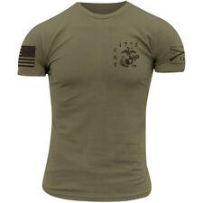 Grunt estilo USMC-Est. 1775 T-Shirt-Verde Militar