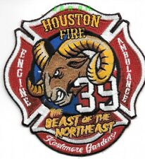 "*NEW*  Houston Station - 39  ""Beast of Northeast"", TX  (4"" x 4.25"")   fire patch"