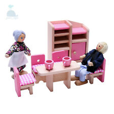 Latest 2018 Wooden Furniture Dolls House Dining Room Set Miniature No Dolls