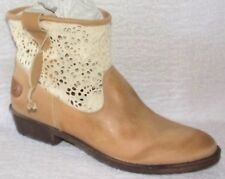 88c19e07340 NEW COOLWAY FLAVIA BEIGE LEATHER   CROCHET ANKLE BOOTS ...