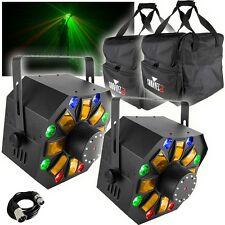 Chauvet Swarm Wash FX Light Effects (Pair) and Chauvet CHS-40 Carry Bags (Pair)