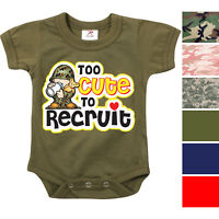 Camo Infant Bodysuit Toddler One Piece Baby Suit Bodysuit Army Romper Boys Girls