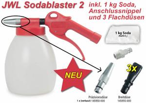 JWL Druckluft Sodablaster 2 inkl. 3 Flachdüsen, 1kg Soda + Nippel - Soda Blaster
