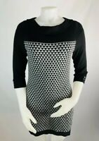 WHBM White House Black Market Small Women's Sweater Dress Tunic 3/4 Sleeve Black