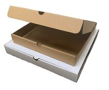 White and Brown Plain Pizza Boxes, Takeaway Pizza Box, Postage Boxes 7 -14 Inch