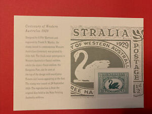 STAMP REPLICA CARDS - /28 - 1928, CENTENARY OF WESTERN AUSTRALIA