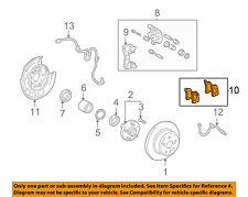 TOYOTA OEM Brake-Rear Pads 0446648060