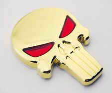Skull Skeleton Emblem Decal 3D Metal Gold Motorcycle Bikes Tank Fairing Custom