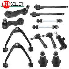 13 Upper Control Arm Tie Rod Sway Bar Pitman Idler Arm For 99-07 GMC Sierra 1500