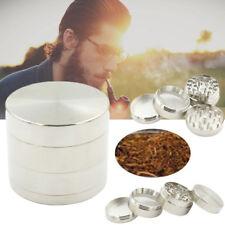 New Men Silver Nice 4-piece Metal Hand Muller Herb Spice Tobacco Grinder Crusher